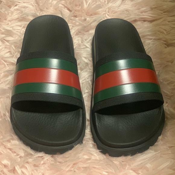 Gucci Shoes   Gucci Web Slide Sandal